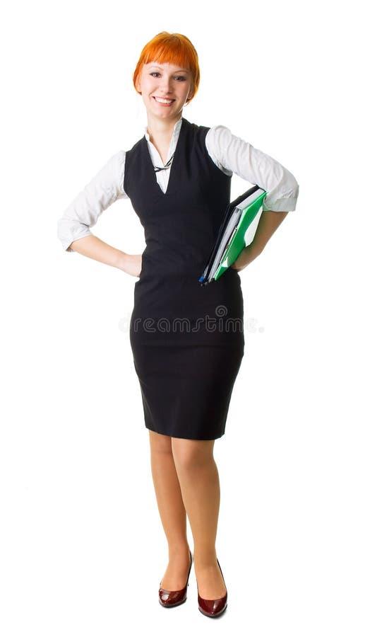 Attraktive Geschäftsfrau stockfotografie