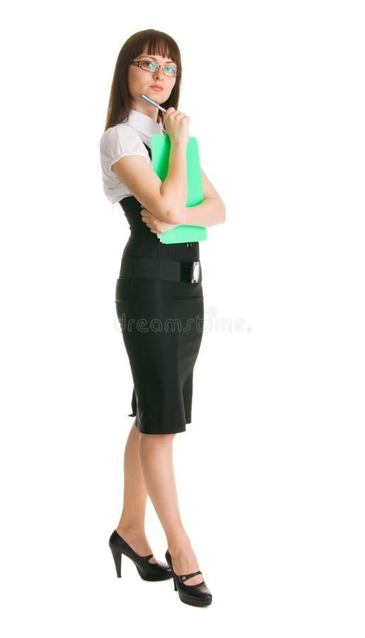 Attraktive Geschäftsfrau lizenzfreie stockfotos