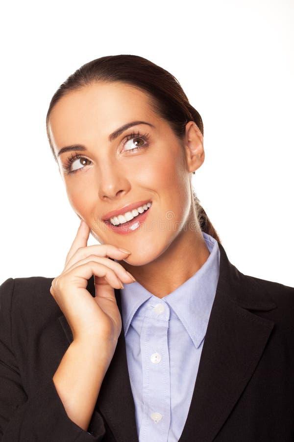 Download Attraktive Geschäftsfrauplanung Ihre Strategie Stockbild - Bild von contemplating, firma: 27730369