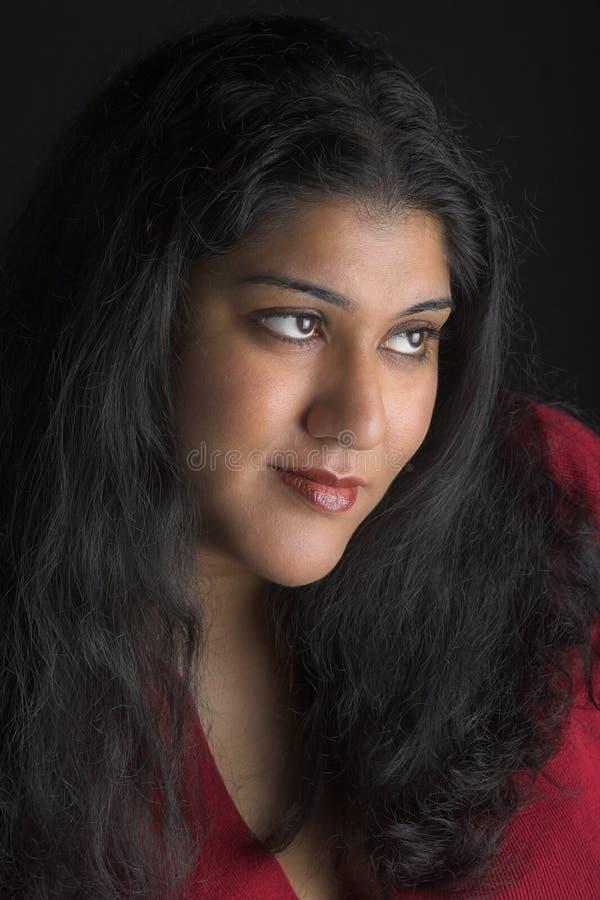 Attraktive indische Frau stockfotografie
