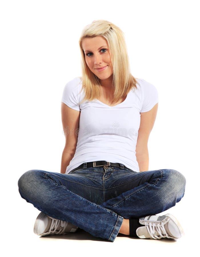 Attraktive junge Frau stockbilder
