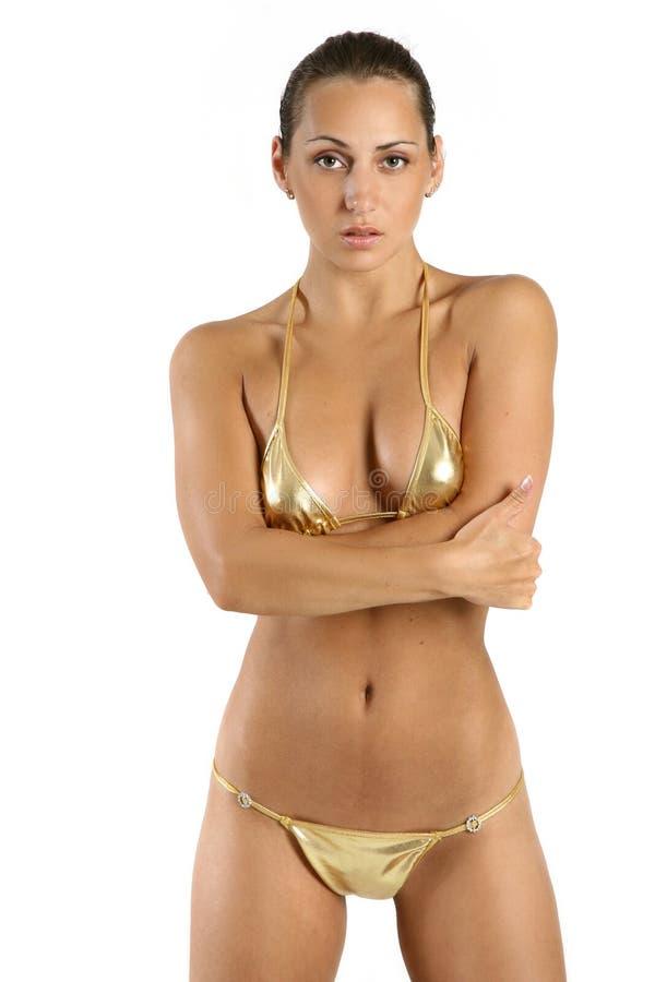 Junge Frau Im Bikini