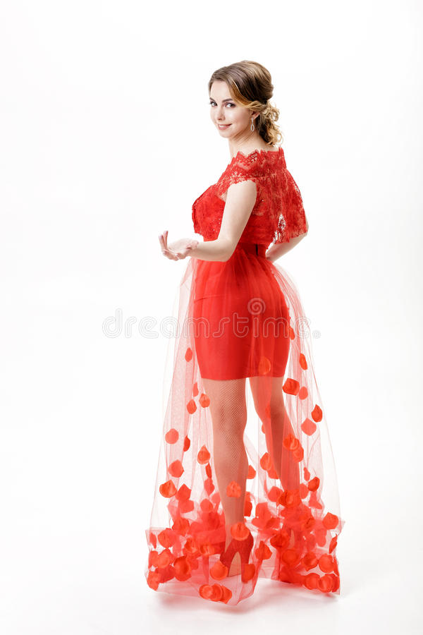 Rotes kleid 92