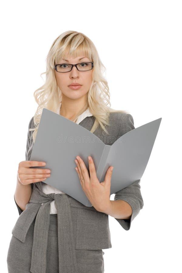 Attraktive junge Geschäftsfrau stockfotografie