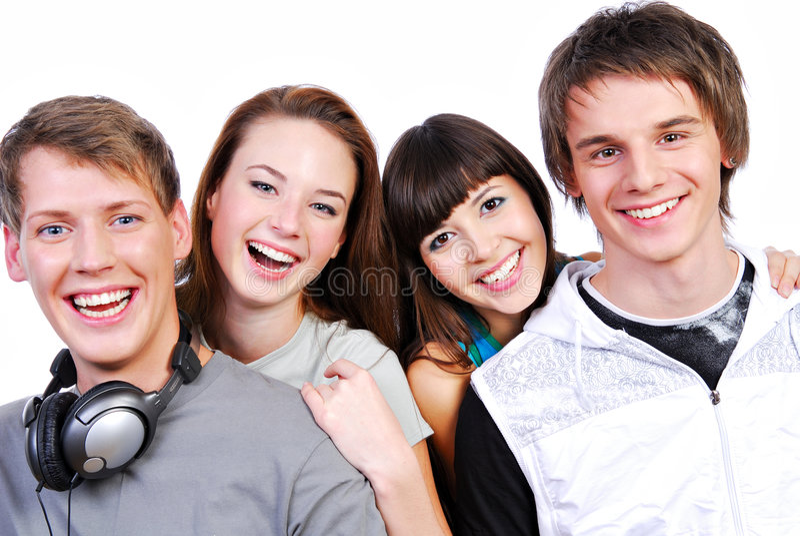 Attraktive junge Kursteilnehmer lizenzfreie stockbilder