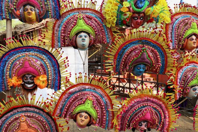Attraktive Maske des Gottes und der Göttin stockfotografie