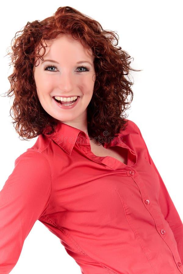 Attraktive red-haired junge Frau lizenzfreie stockfotos