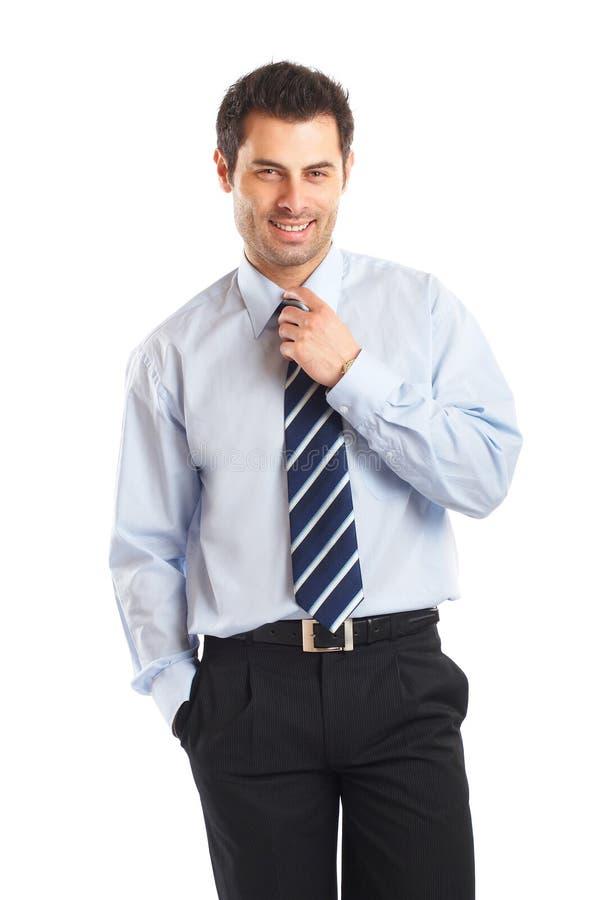 Attraktiver junger Geschäftsmann lizenzfreies stockfoto