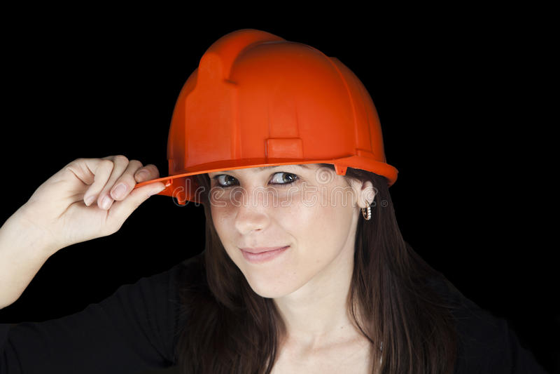 Attraktiver junger Ingenieur/Inspektor lizenzfreie stockbilder