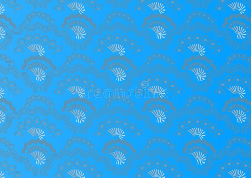 Attraktiver nahtloser Musterhintergrund auf Blau stockbild