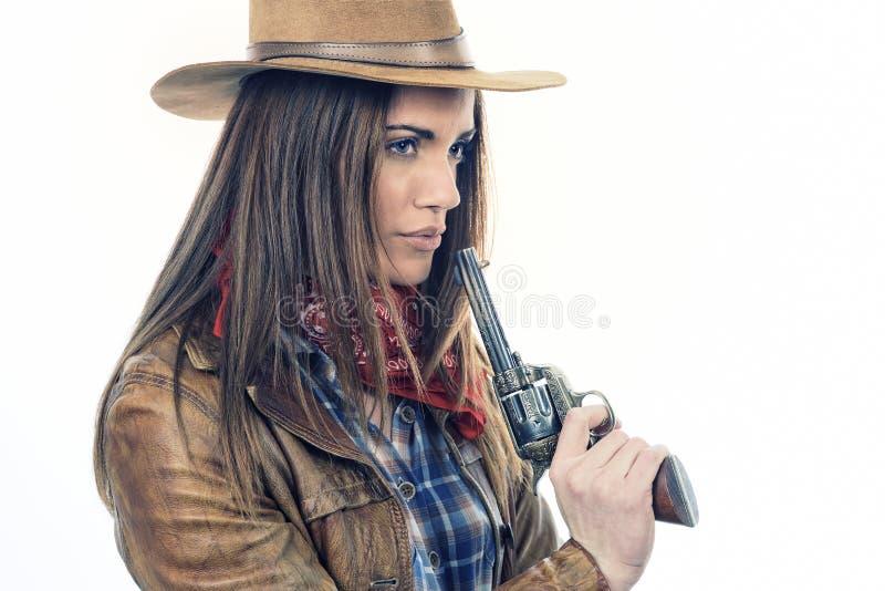 Attraktives Cowgirl stockfotos