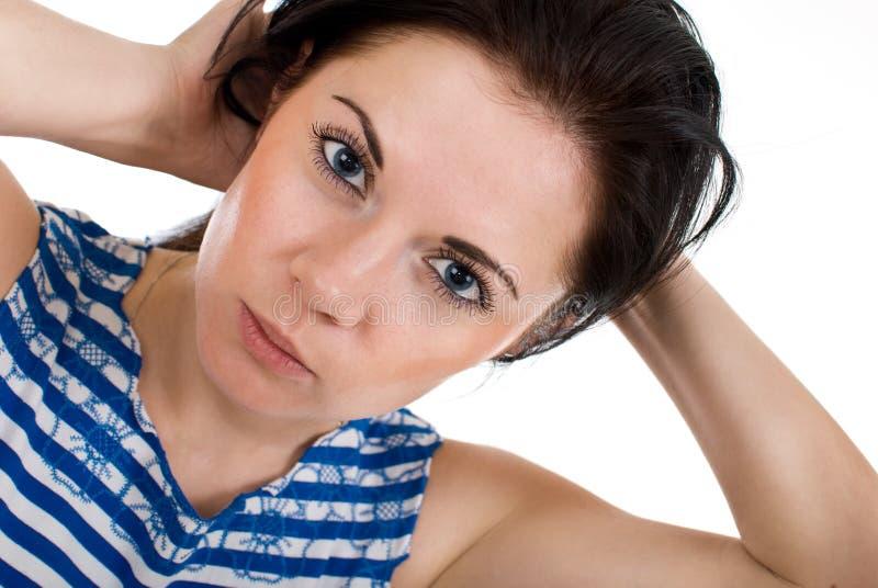 Attraktives Frauenportrait stockbilder
