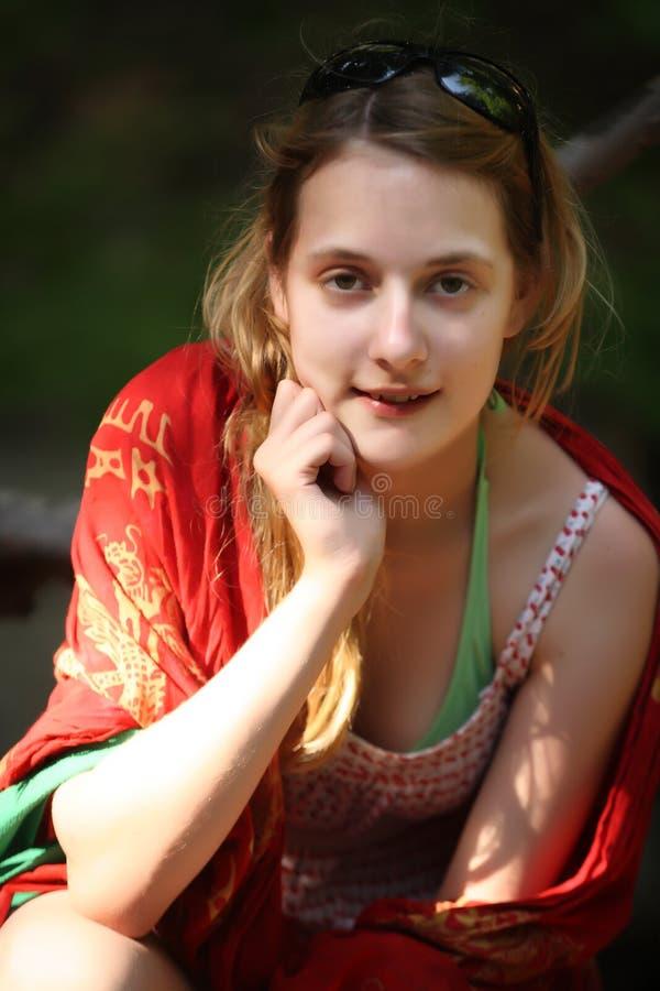 Attraktives junges Mädchen stockbild
