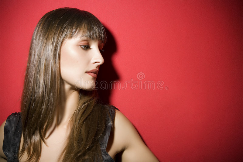 Attraktives Mädchen stockbilder