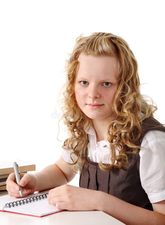 Attraktives Schulmädchen stockfotos
