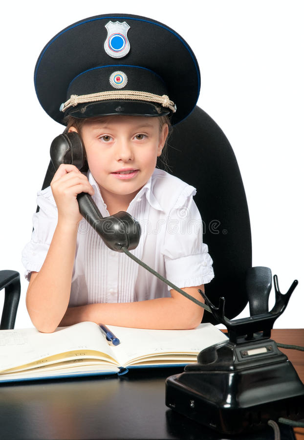 Attraktives Sicherheitsmädchen lizenzfreies stockfoto