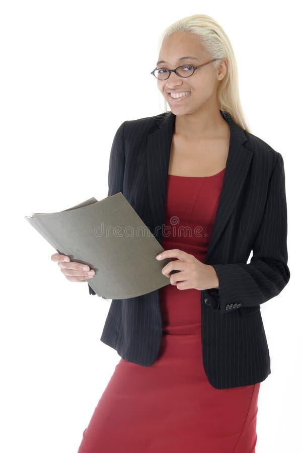 attraktivt affärskvinnabarn royaltyfri foto