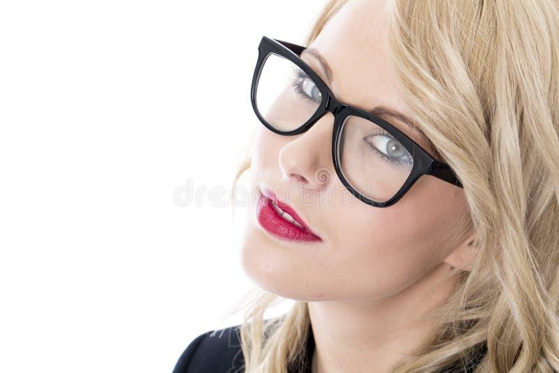 attraktivt affärskvinnabarn royaltyfri bild