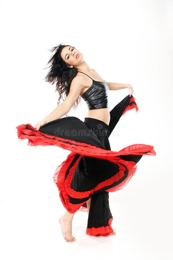 attraktivt barn för dansflamencokvinna arkivbilder