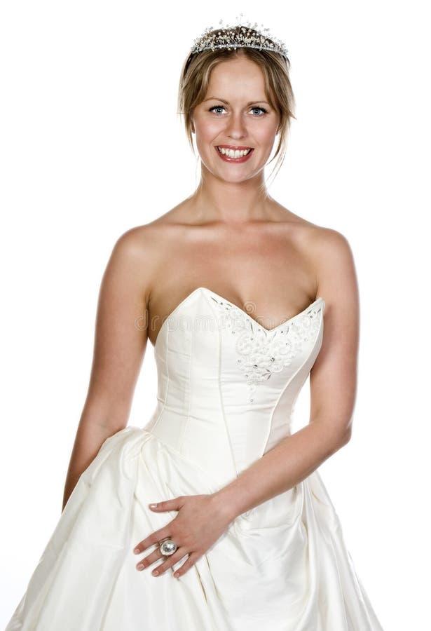 attraktivt blont klänningflickabröllop royaltyfri foto