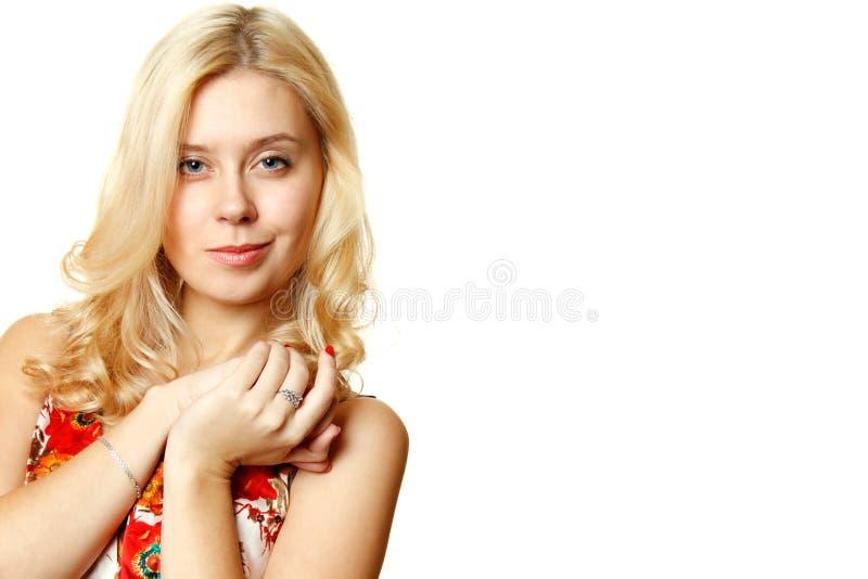 attraktivt kvinnabarn arkivbild