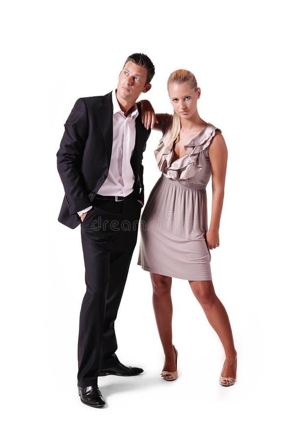 attraktivt parbarn royaltyfri fotografi