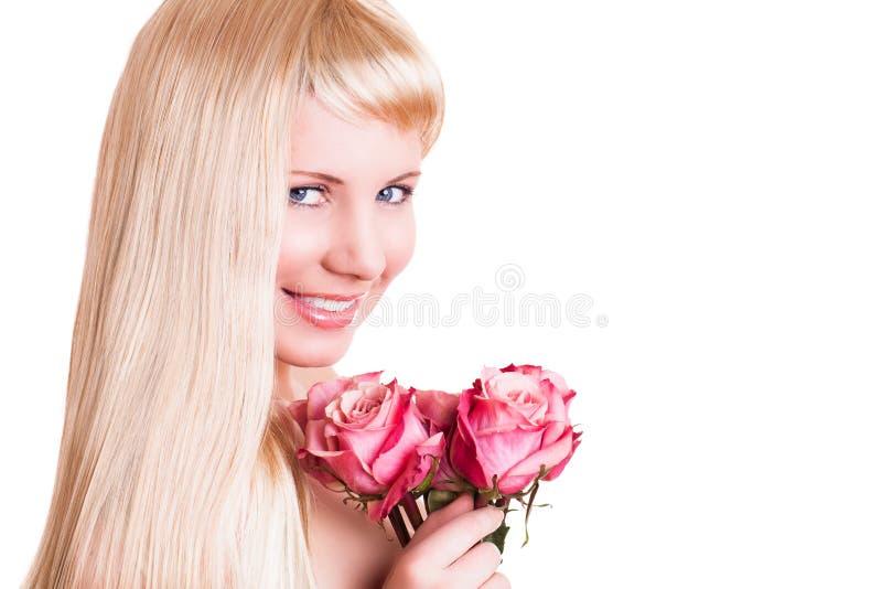attraktivt rose kvinnabarn arkivfoto