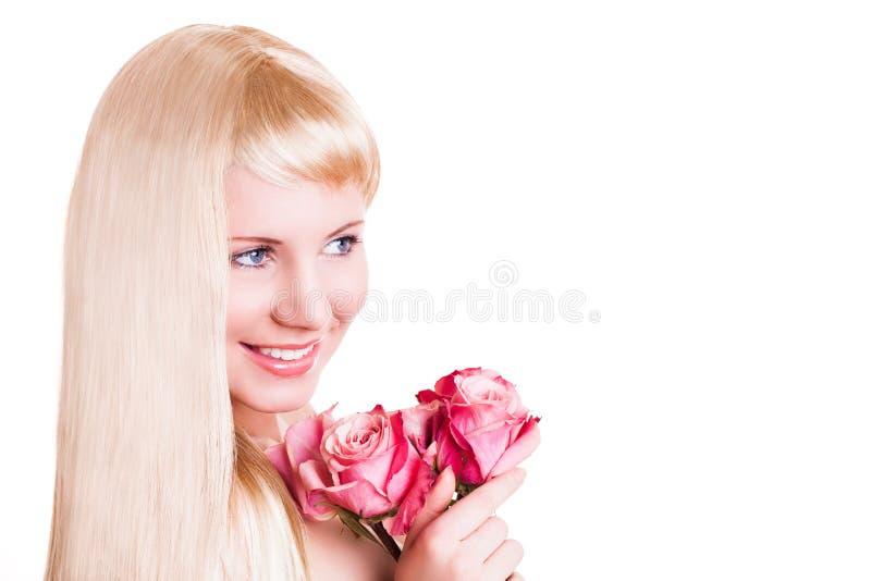 attraktivt rose kvinnabarn royaltyfria bilder