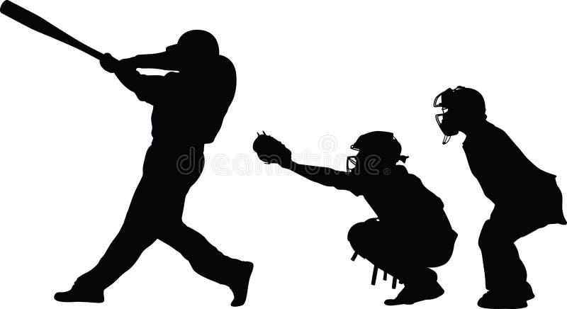 Attrapeur et arbitre de pâte lisse de base-ball photo stock