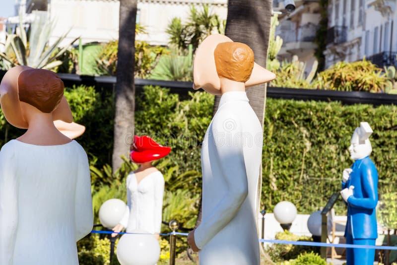Attrappen in Cannes, Frankreich lizenzfreie stockfotos