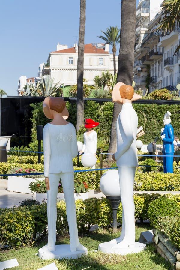 Attrappen in Cannes, Frankreich lizenzfreie stockbilder
