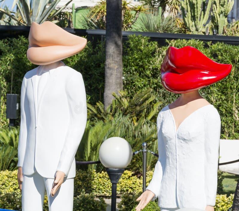 attrapper i Cannes, Frankrike arkivbild