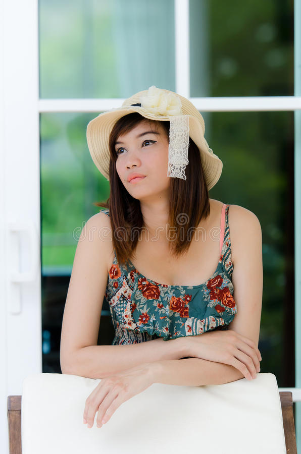 Download Attrative Asian Woman Relaxing Stock Image - Image: 24838951