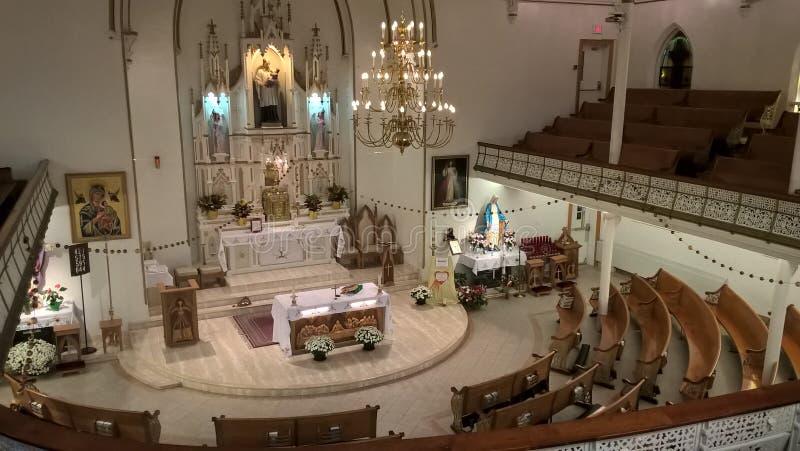 Attraversando through il Canada St Stanislaus Kostka Parish, Toronto immagini stock libere da diritti