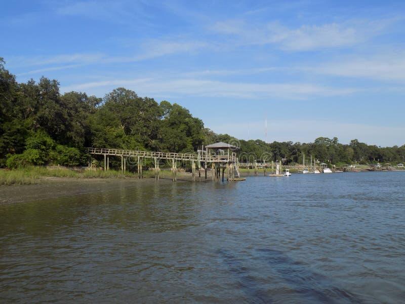 Attraverso il lago fotografia stock libera da diritti