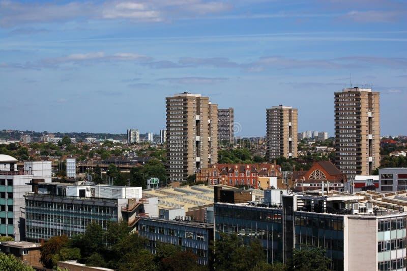 attraverso la vista del nord di Londra ad ovest fotografia stock libera da diritti