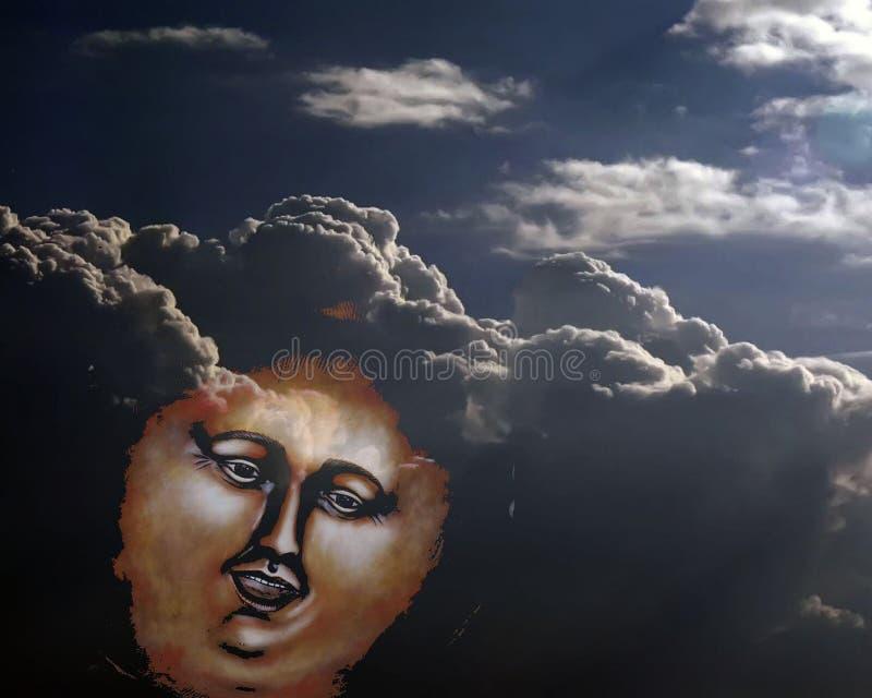 Attraverso le nuvole spesse fotografia stock libera da diritti