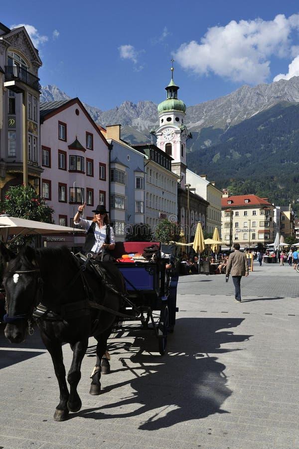 Attrazione Al Quadrato Di Innsbruck Fotografia Editoriale