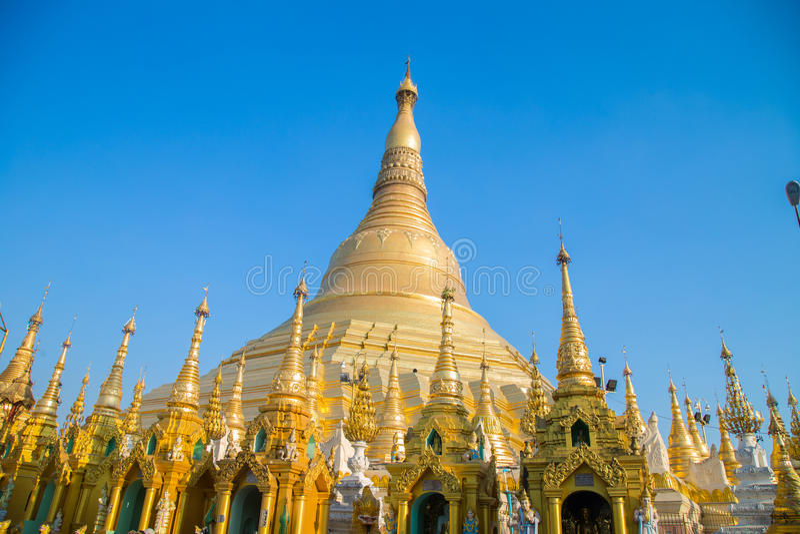 Attrazione di viaggio di Pagonda Myanmar fotografie stock