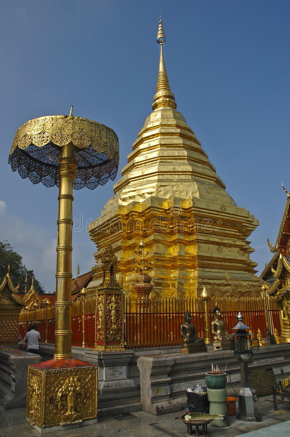 Attrazioni in Tailandia, Doi Suthep, Chiang Mai immagine stock