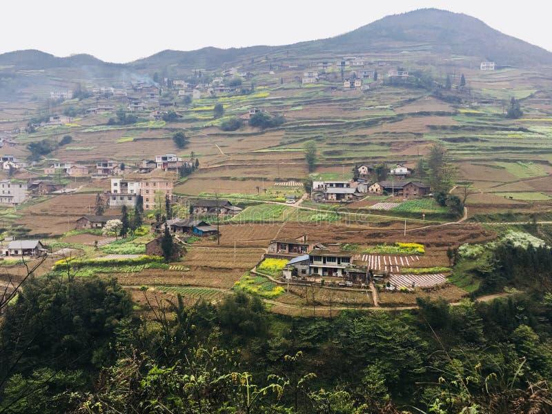 Attrazioni turistiche del villaggio di festa del tangbashe fotografia stock