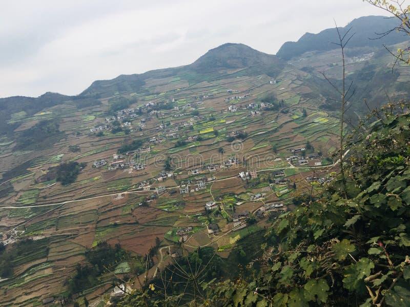 Attrazioni turistiche del villaggio di festa del tangbashe immagine stock