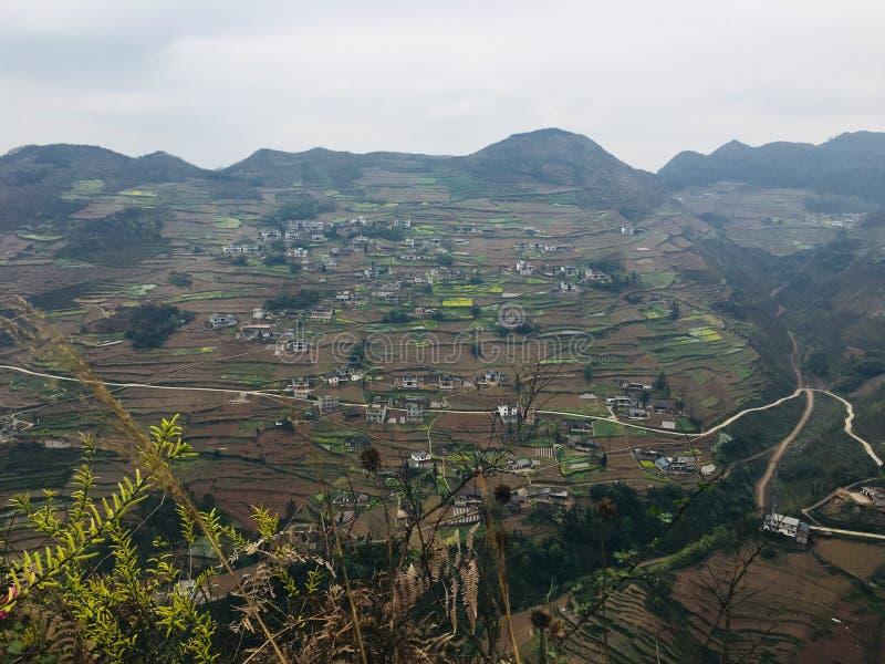Attrazioni turistiche del villaggio di festa del tangbashe fotografia stock libera da diritti