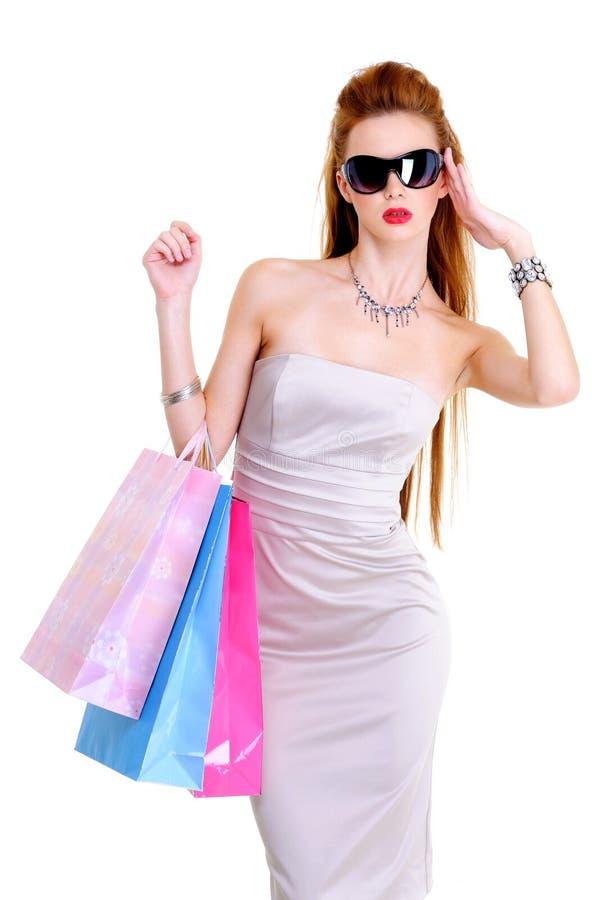 attrctive γυναίκα αγορών στοκ φωτογραφία