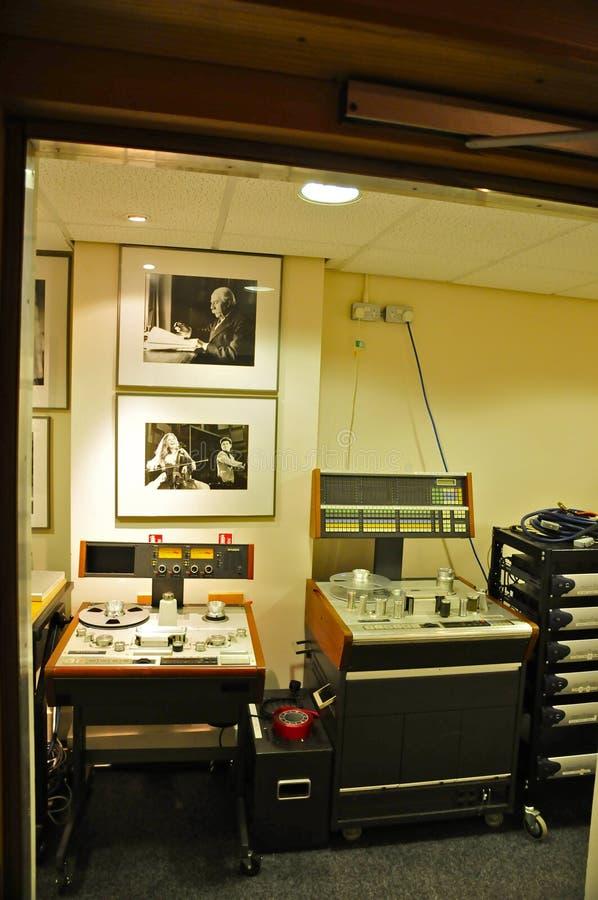 Attrezzatura d'annata; Abbey Road Studios, Londra fotografia stock