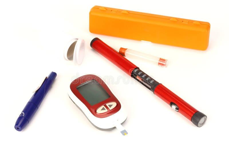 Attrezzatura del diabete immagini stock libere da diritti