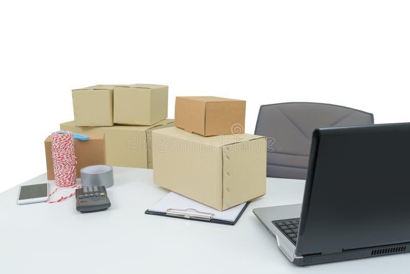 Attrezzatura del Ministero degli Interni, computer portatile del computer affare e orde online fotografia stock libera da diritti
