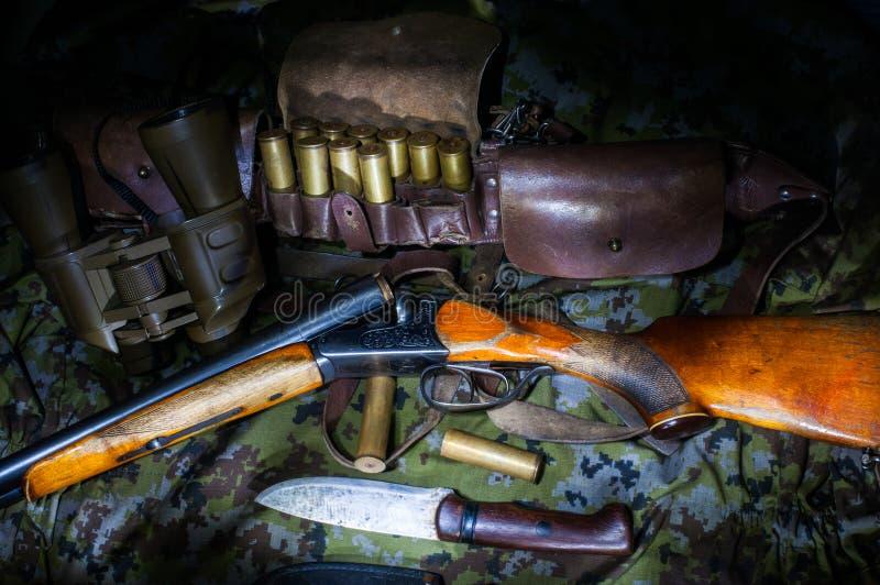 Attrezzatura dell'esercito del cacciatore immagine stock libera da diritti