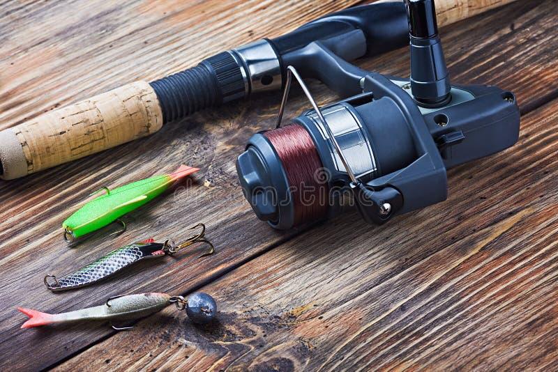Attrezzatura di pesca fotografia stock
