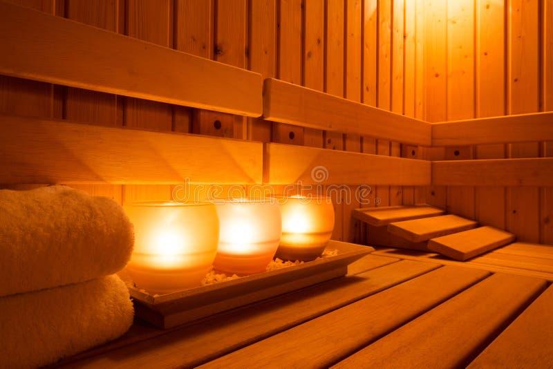 Attrezzatura di sauna fotografie stock